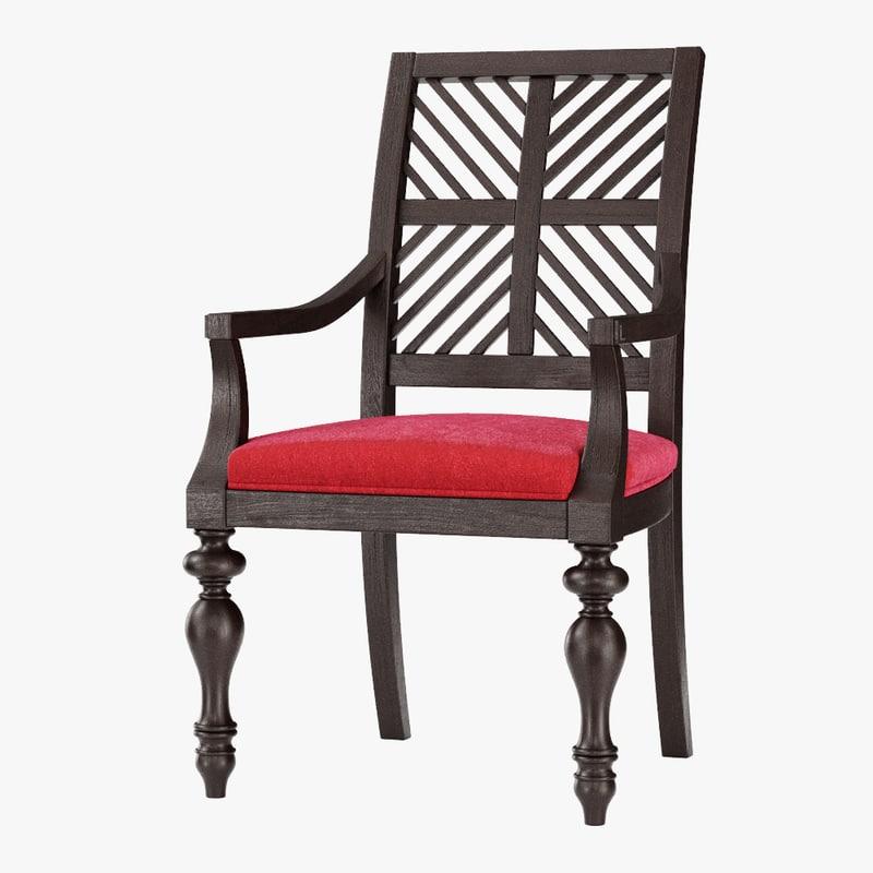pattern arm chair 3D model