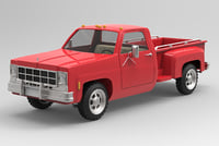 3D gmc pickup truck