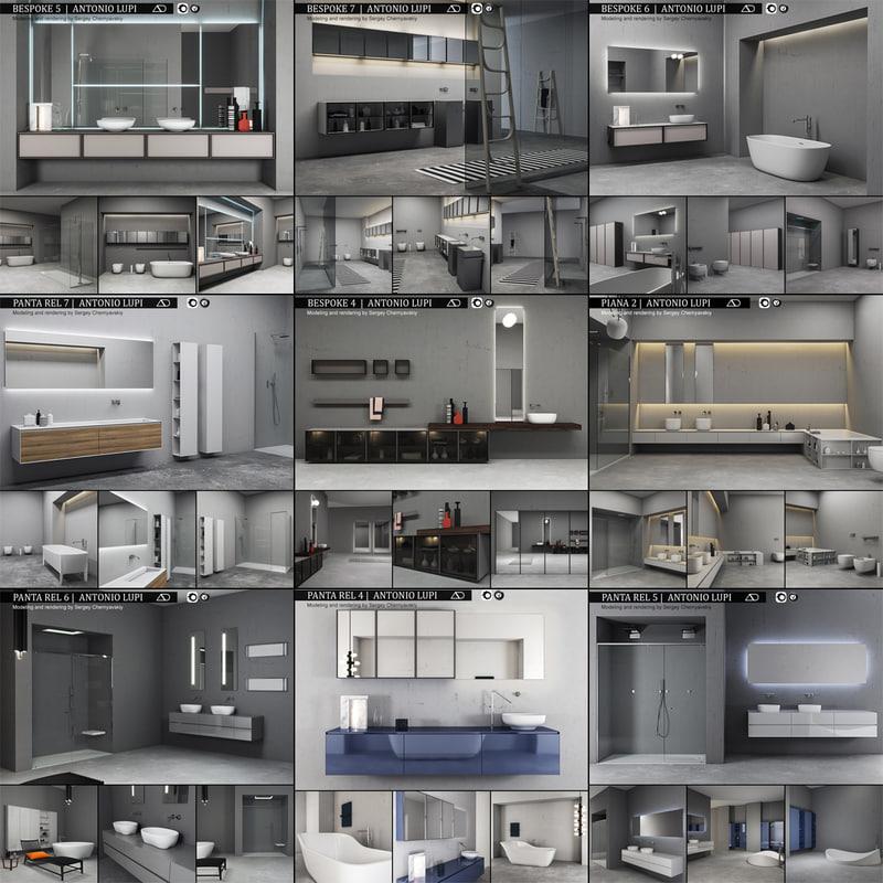 bathroom furniture 2 antonio 3D