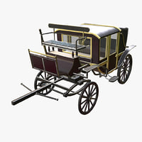 3D victorian carriage model