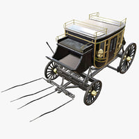 historic carriage 3D