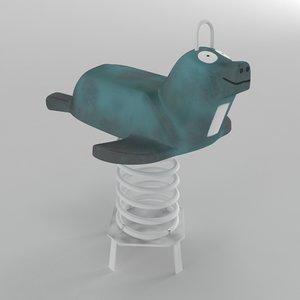 spring swing seal 3D model