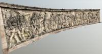 3D model war mural
