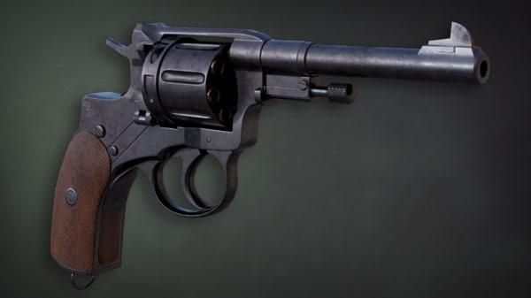 3D pbr nagant revolver silencer