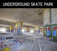 underground skate park scan 3D model