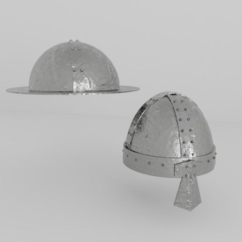 3D medieval helmet