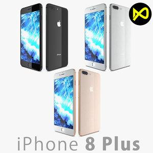 apple iphone 8 3D model