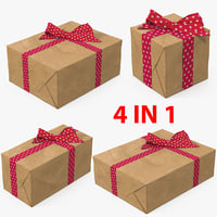 gift boxes 4 3D model
