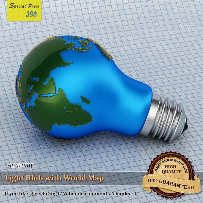 3D light blub world mapped