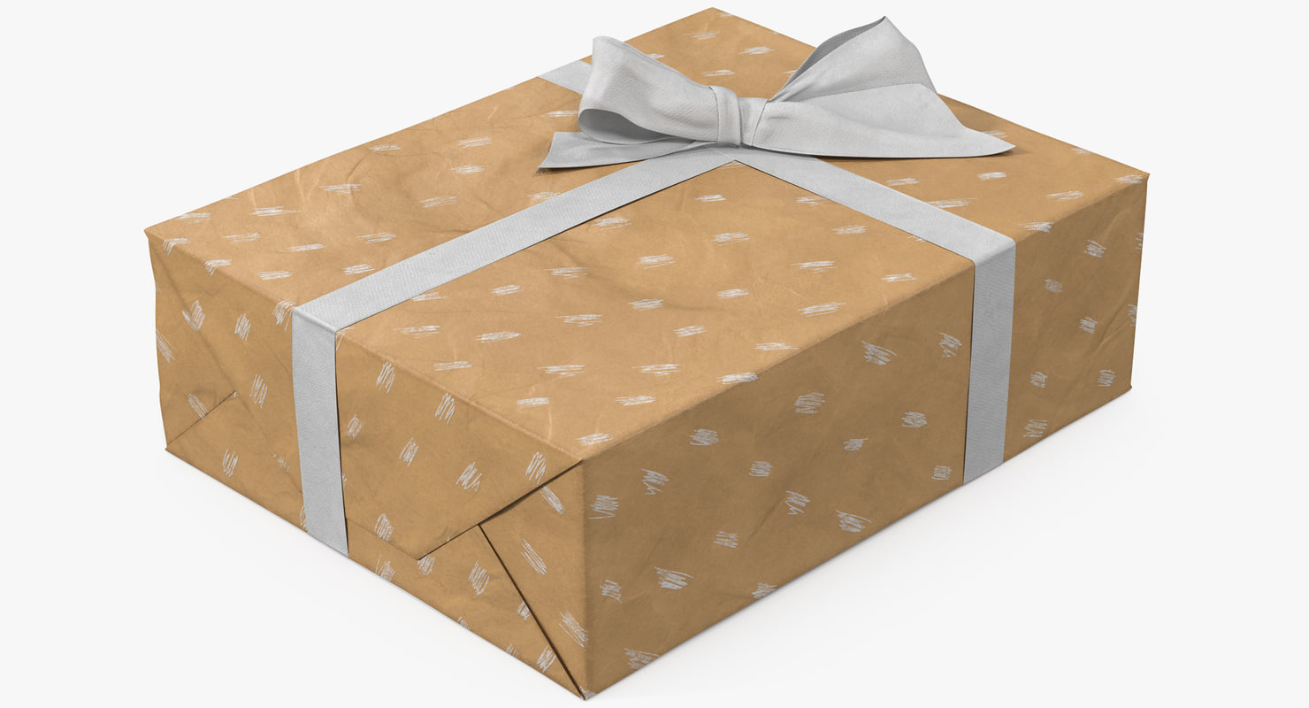 gift box paper 5 3D