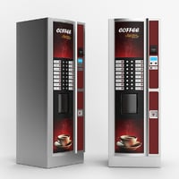 realistic coffee vending machine 3D model