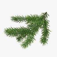 3D model christmas fir branches