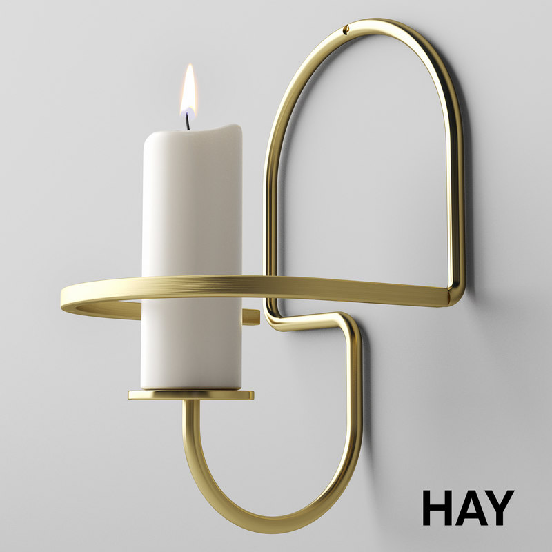 3D hay lup candleholder candle