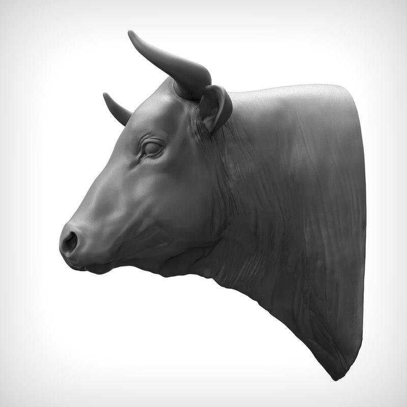 3D bull head