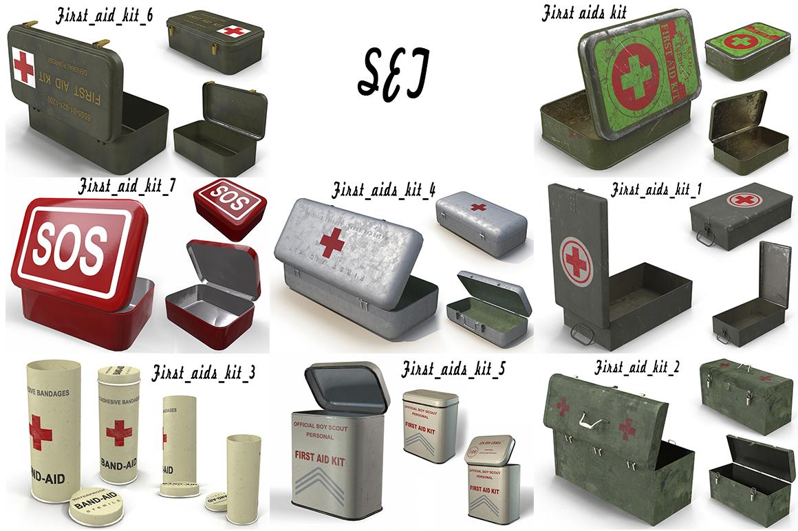 3D aids kits model