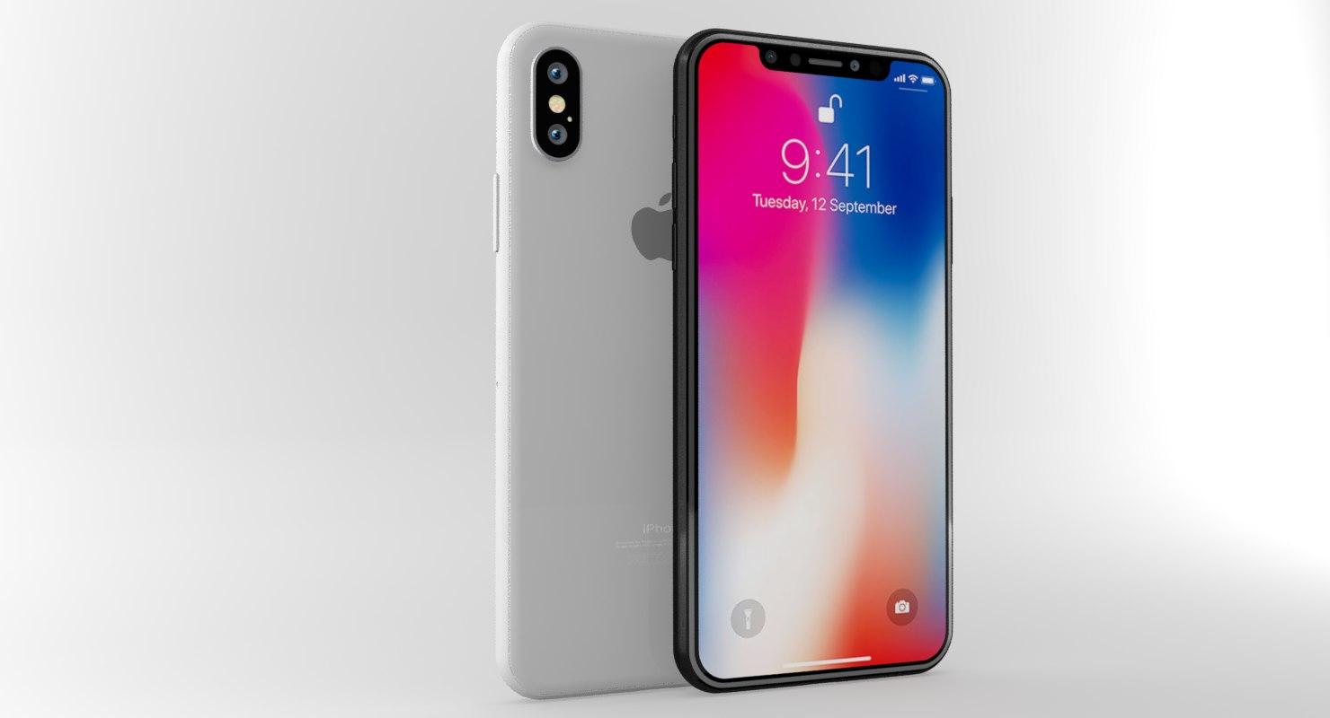 Apple iphone x white 3D model - TurboSquid 1205800