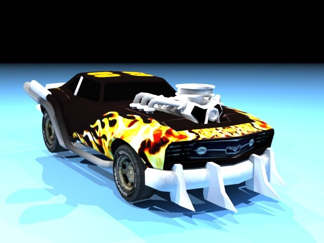 avenger warrior car interior 3D