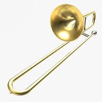trombone pbr 3D model