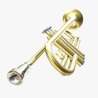 3D trumpet pbr