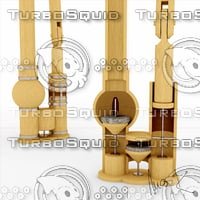wooden water pump 3D