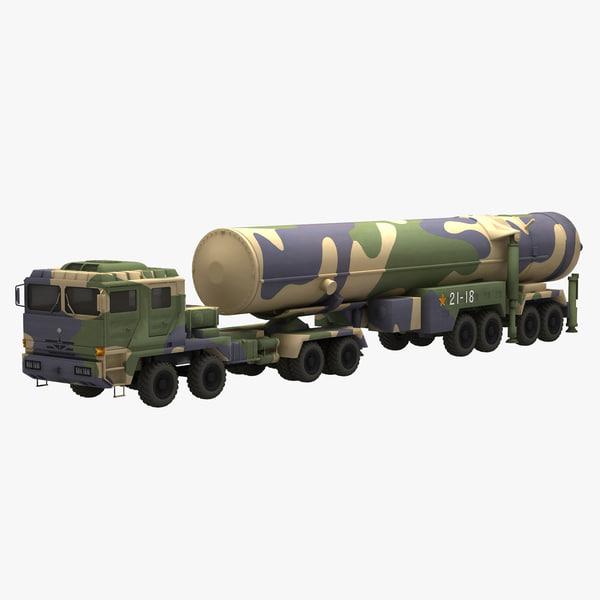 chinese df-31 missile rocket 3D model
