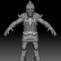 3D character warrior model
