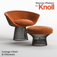 Lounge chair & ottoman Warren Platner for Knoll