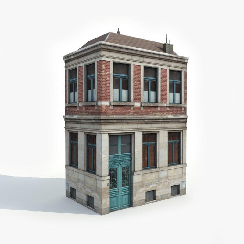 3d model apartment building turbosquid 1205835 for Apartment model house