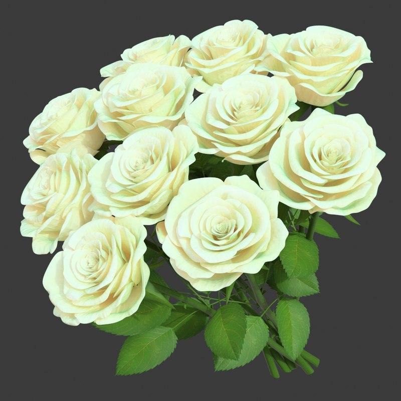 rose bouquet 11 3D