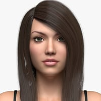 doris 2 0 female hair 3D model