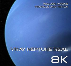 3D neptune real 8k model