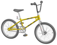bmx bike old school 3D model