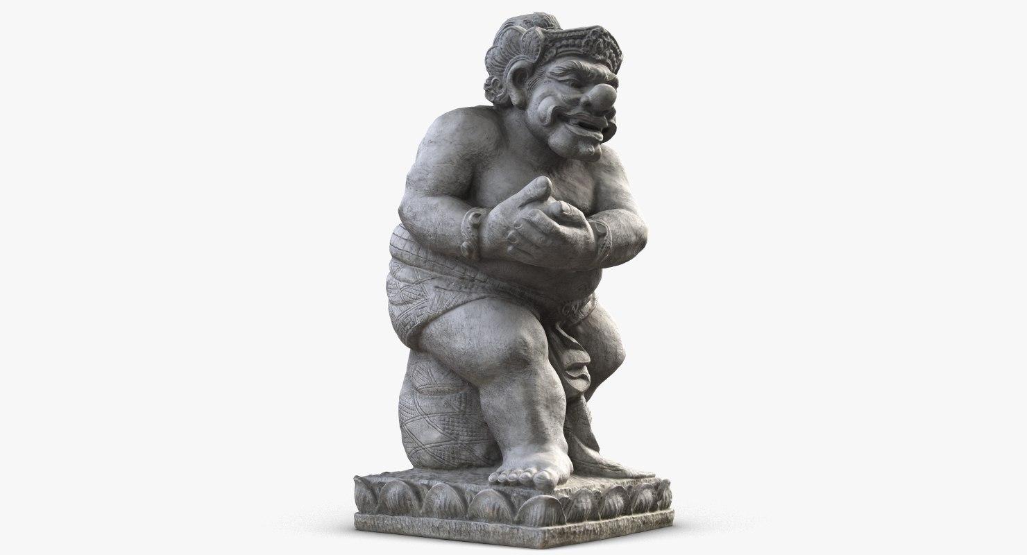 sculpture bali man model