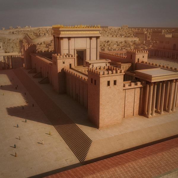 3D solomon temple herod model