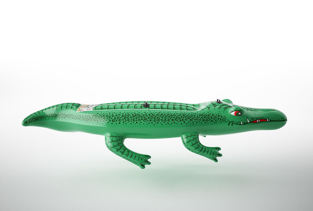 3D model inflatable crocodile