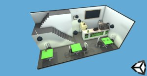 3D office home model