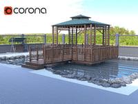 3D garden alcove