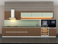 small kitchen 3D model