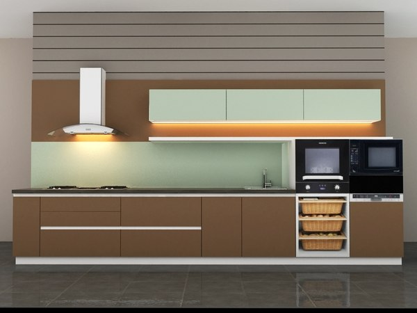 small kitchen 3D model