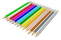 colors pencils 3D model