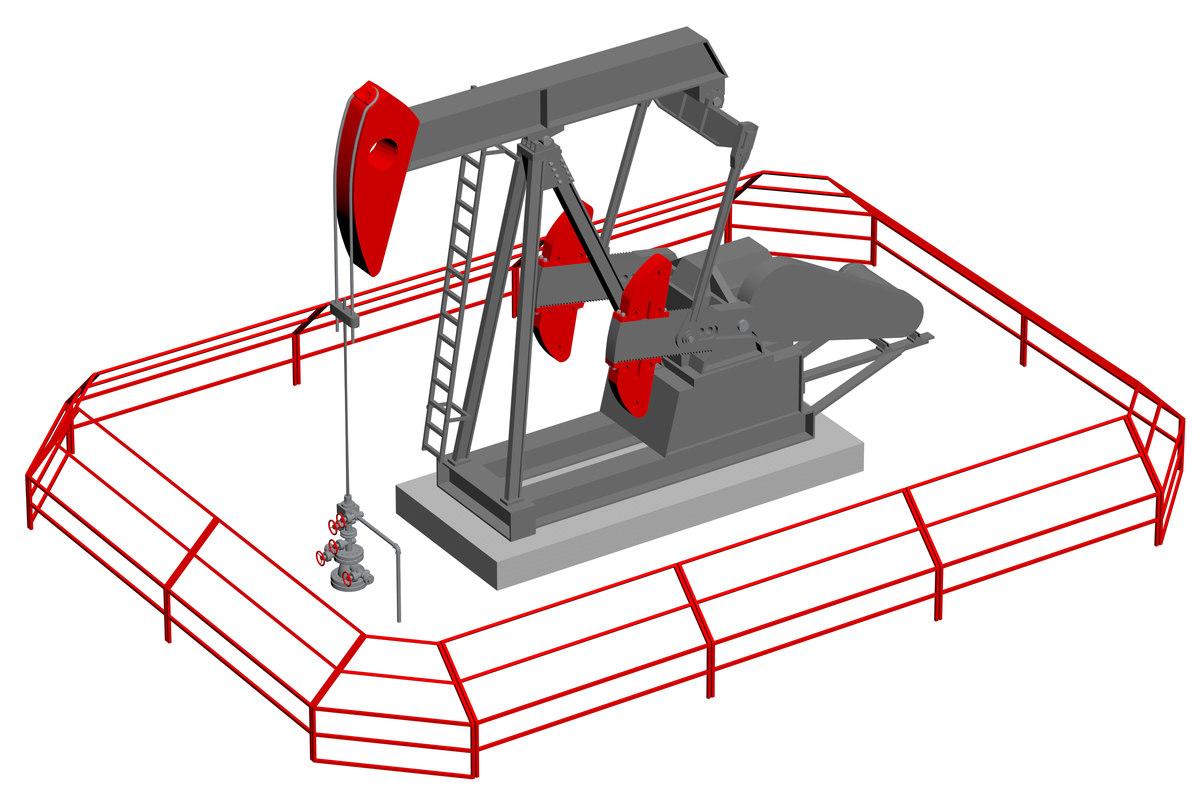 3D lufkin oilfield pumping unit model