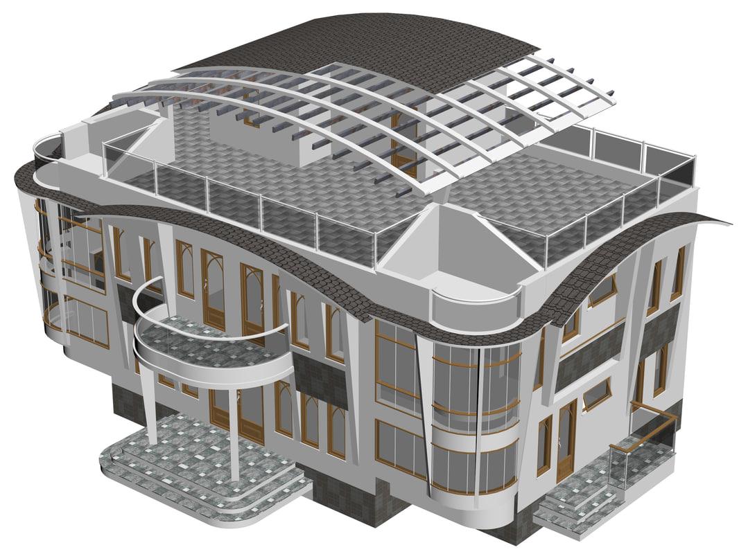 3D model conceptuel house