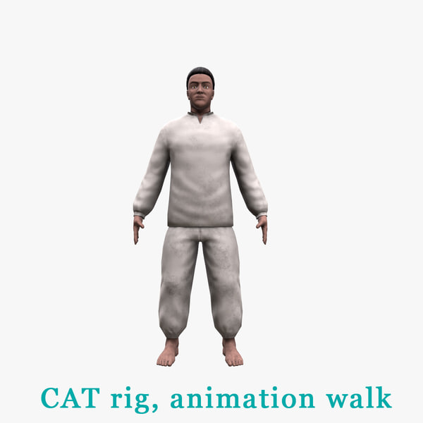 peasant character 3D model