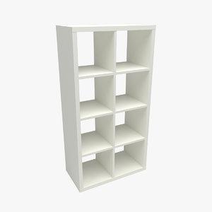 3D kallax shelving unit