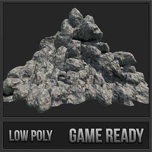 3D model mountain rocks pbr