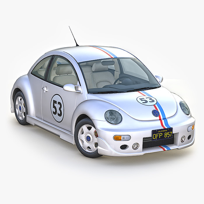volkswagen new beetle herbie 3D model