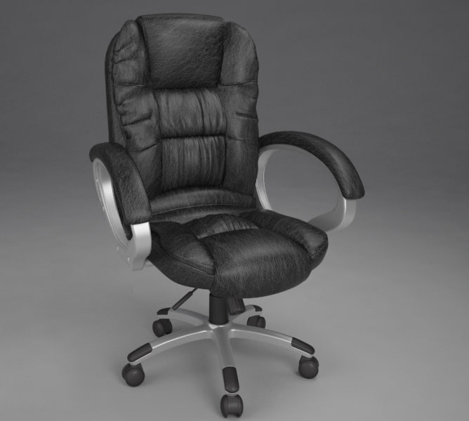 leather manager office chair 3D