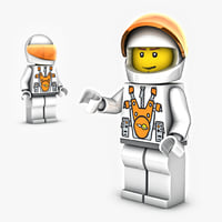 lego mars mission character 3D model