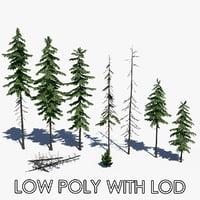 3D pine tree pack
