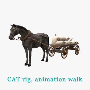 horse cart 3D model